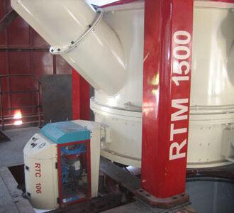 controleur SCOVAL qualité des sables de fonderie par le rotocontrol sur malaxeur cuve fixe