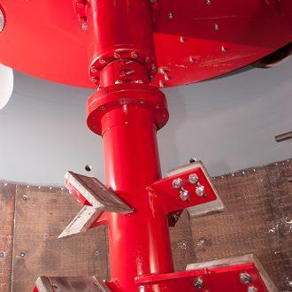 detail d'outils de malaxeur de fonderie rotomax