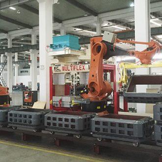 machine à mouler de fonderie avec robots